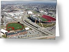 Stadiums University Of Louisville  Greeting Card