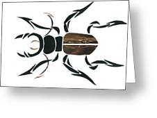 Stag Beetle Going Tribal Greeting Card