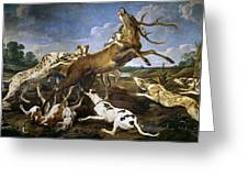 Stag Hunt Greeting Card