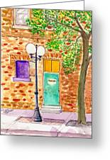 Stage Door--west Des Moines Greeting Card