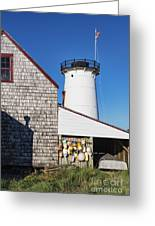 Stage Harbor Light Greeting Card