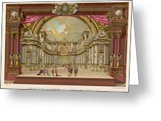 Stage-set Designs For  Productions Greeting Card