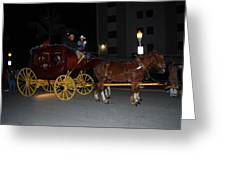 Stagecoach And Horses Greeting Card