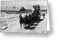 Stagecoach, C Greeting Card
