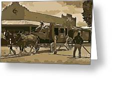 Stagecoach In Old West Arizona Greeting Card