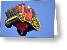 Stagecoach In The Sky Greeting Card