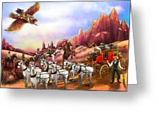 Stagecoach Robbery Greeting Card