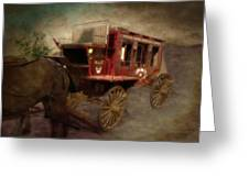Stagecoach West Sepia Textured Greeting Card