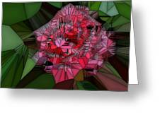 Stain Glass Rose Greeting Card