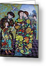 Stain Glass Women Greeting Card