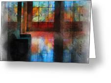 Stained Glass 01 Photo Art Greeting Card
