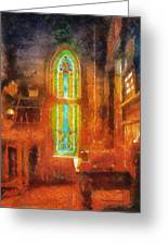 Stained Glass 05 Photo Art Greeting Card