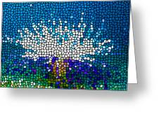 Stained Glass Anemone 1 Greeting Card