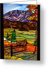 Stained-glass-beauty Greeting Card