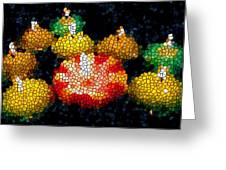 Stained Glass Candle 1 Greeting Card