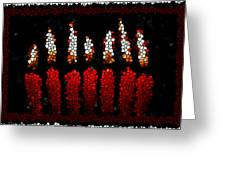Stained Glass Candle Greeting Card