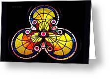 Stained Glass  Greeting Card by Chris Berry