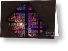 Stained Glass Cross Greeting Card