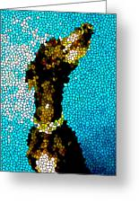 Stained Glass Doberman Pinscher Dog Greeting Card