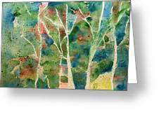 Stained Glass Forest In Spring Greeting Card