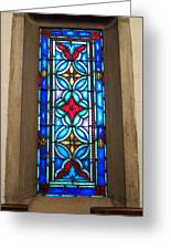 Stained Glass In Redeemer Lutheran Greeting Card