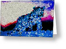 Stained Glass Leopard 1 Greeting Card