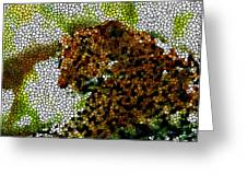 Stained Glass Leopard 2 Greeting Card