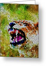 Stained Glass Leopard 3 Greeting Card