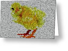 Stained Glass Little Chicken Greeting Card