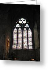 Stained Glass Of The Notre Dame Greeting Card