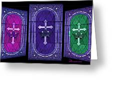 Stained Glass - Purple Greeting Card