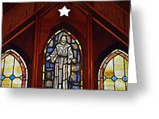 Stained Glass Saviour Greeting Card