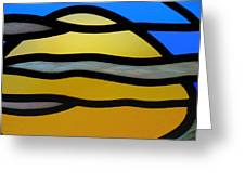 Stained Glass Scenery 3 Greeting Card