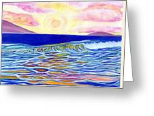 Stained Glass Sunset Greeting Card