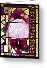 Stained Glass Template Magnolia Glory Greeting Card
