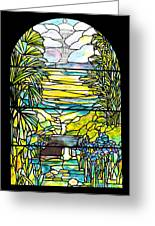 Stained Glass Tiffany Holy City Memorial Window Greeting Card
