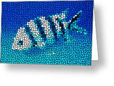 Stained Glass Underwater Fish Greeting Card