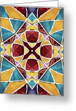 Stained Glass Window 5 Greeting Card