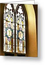 Stained Glass Window In Arch Greeting Card