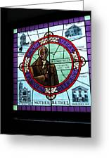 Stained Glass Window In Mother Bethal Church            Greeting Card
