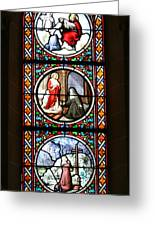 Stained Glass Window Iv Greeting Card