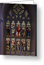 Stained Glass Window The Huntington Library Greeting Card