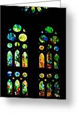 Stained Glass Windows - Sagrada Familia Barcelona Spain Greeting Card