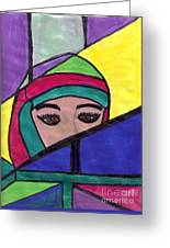 Stained Glass Woman Greeting Card