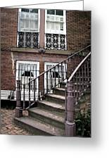 Staircase And Shutters Greeting Card