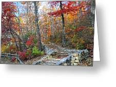 Staircase To Fall Greeting Card