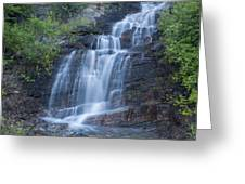 Staircase Waterfall Greeting Card