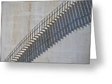 Stairs And Shadows 1 Greeting Card