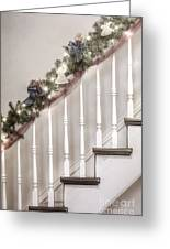 Stairs At Christmas Greeting Card by Margie Hurwich