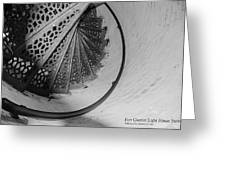 Stairs At The Fort Gratiot Light House Greeting Card